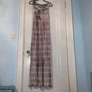 Buffalo David Bitton racer back tie dye maxi dress